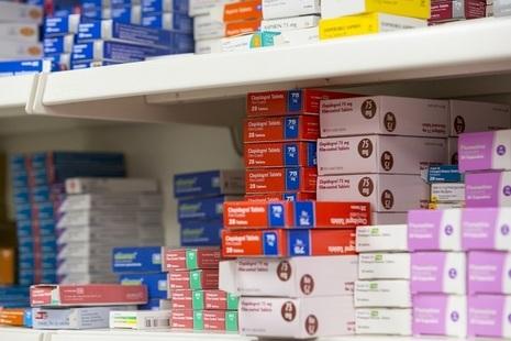 Close-up of prescription medication