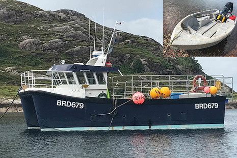 Composite photograph showing Fram of Shieldaig and the tender