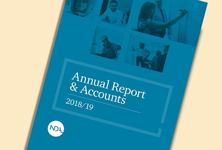 Front cover of NDA's Annual Report and Accounts 2018 to 2019