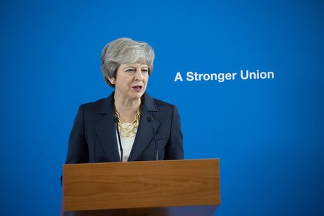 PM giving a speech on the Union.