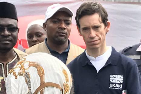International Development Secretary, Rory Stewart MP, visits an Ebola Treatment Centre in the Democratic Republic of the Congo