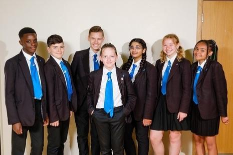 Group of teenage school children
