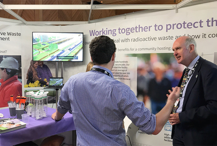 RWM experts were at our stand to explain the geology behind a GDF