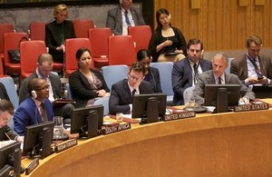 Mark Power, UK Political Coordinator at the UN, at the Security Council