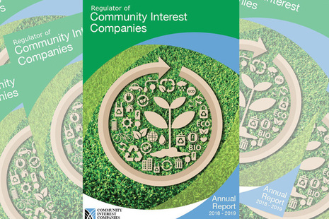 Front cover of the Community Interest Companies annual report 2018 to 2019