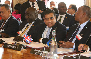 Lord Ahmad at the Commonwealth meeting on 10 July 2019