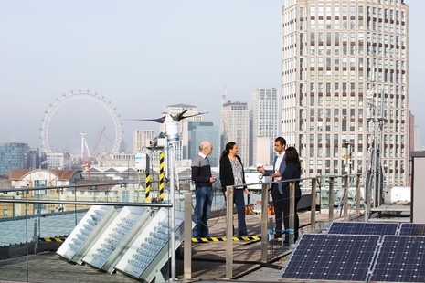 Bank Energi meeting on a London rooftop.
