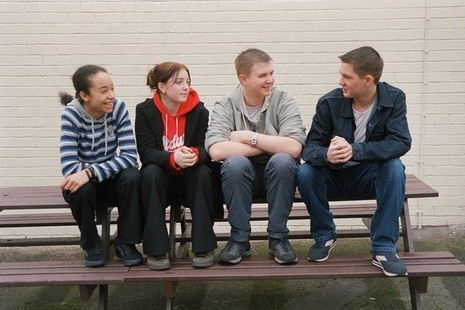 Young people sitting