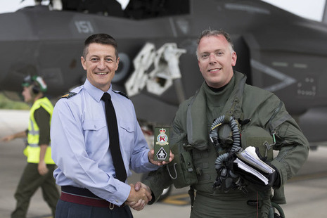 F35 pilot returns returns home to RAF Marham