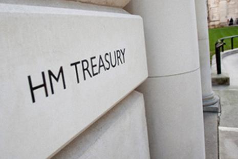 HM treasury building plaque
