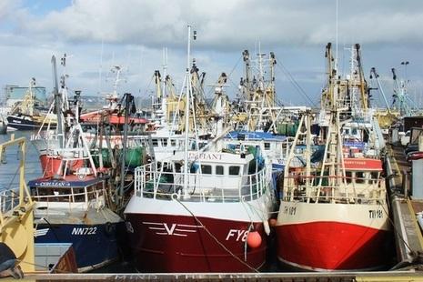 Fishing boats in Brixham, Devon.
