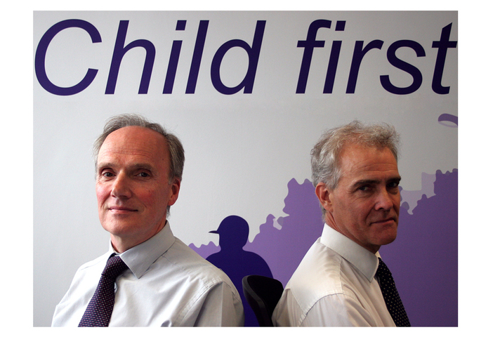 Colin Allars, Chief Executive of the YJB and Charlie Taylor, Chair of the YJB