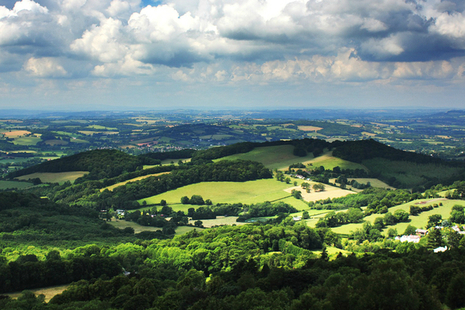 A landscpae picture of the Malvern Hills