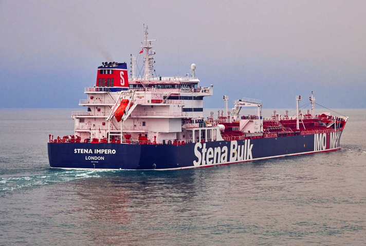 Stena Bulk ship going off into the distance