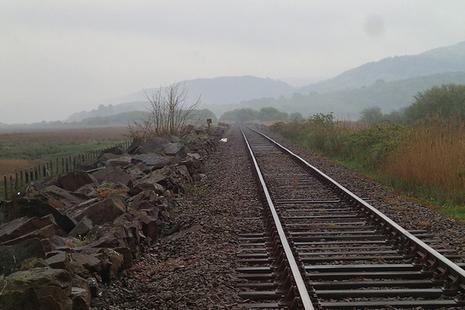 railway line on an overcast day