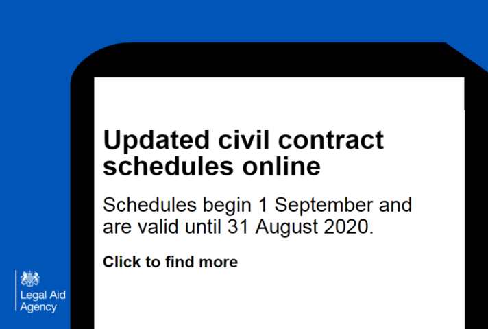 new civil contract schedules available on Contracted Work and Administration (CWA) portal
