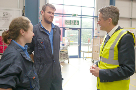 Secretary of State for Education meets apprentices