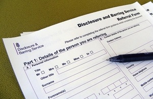 Paper barring referral form