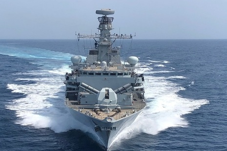 HMS Montrose has been escorting British-flagged vessels through the Strait of Hormuz.