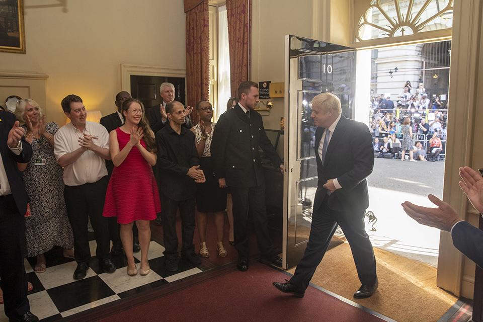 Boris Johnson in 10 Downing Street