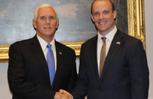 Foreign Secretary Dominic Raab and Vice President Mike Pence