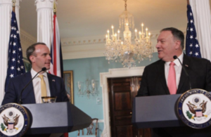 Foreign Secretary Dominic Raab and U.S. Secretary of State Mike Pompeo