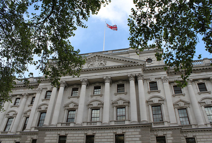 Exterior of HM Treasury