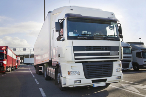 Photo of a lorry driver driving their vehicle