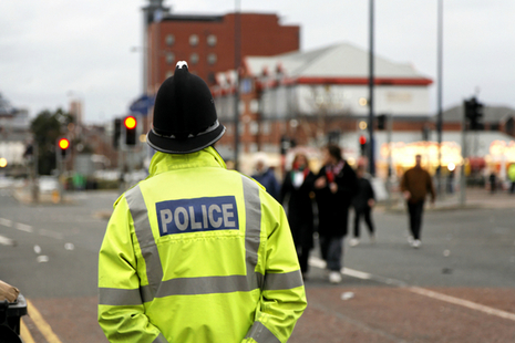 Police observing town centre