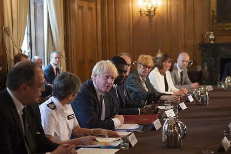 Prime Minister Boris Johnson hosts roundtable in Downing Street
