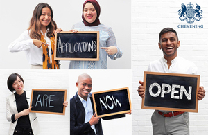 Applications for the UK Government's prestigious Chevening Scholarships open 5 August 2019