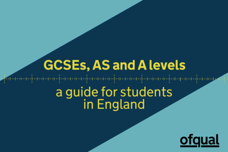 GCSEs, AS and A levels: a guide for students in England