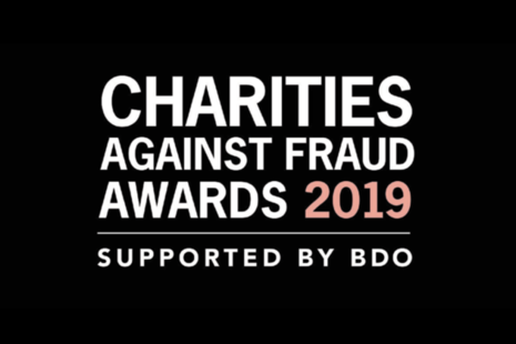 Logo for Charity Fraud Awards 2019.