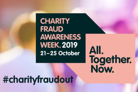 Logo for Charity Fraud Awareness Week 2019 (21 to 25 October) #CharityFraudOut