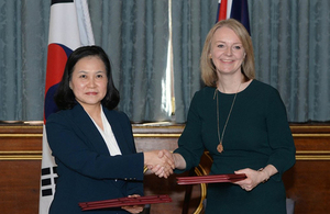 Secretary of State for International Trade, Liz Truss and the Korean Minister of Trade, Yoo Myung-Hee signed a continuity Free Trade Agreement that will allow businesses to keep trading freely after Brexit on Thursday 31 October.