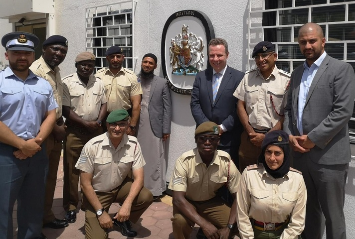 Armed forces personnel with MOD consular.