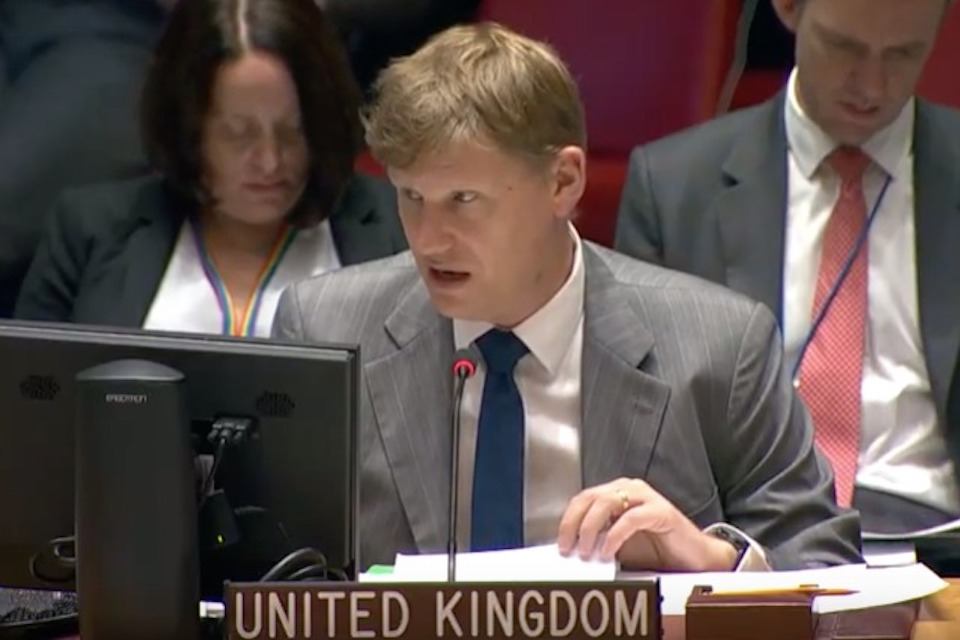 Amb. Jonathan Allen at the UN Security Council