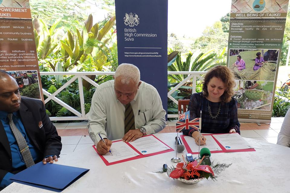 Signing of the Memorandum of Understanding