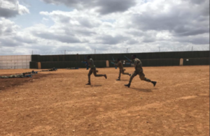 Somali National Army training at a UK-funded training facility in Baidoa