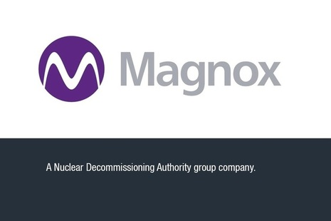 Magnox logo with text: a Nuclear Decommissioning Authority group company