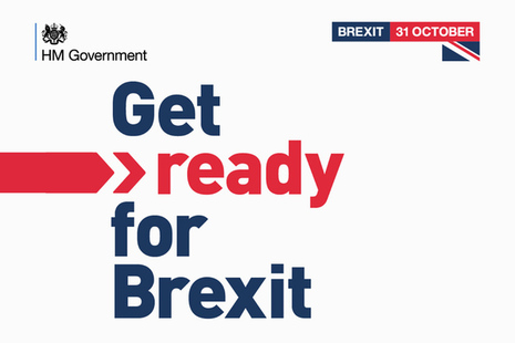 Graphic displaying the text 'Get ready for Brexit'