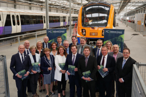Communities Secretary visits Bombardier UK 's Derby factory as part of the Midlands Engine Rail launch.