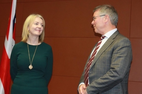 International Trade Secretary Liz Truss and New Zealand Trade Minister David Parker