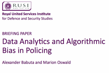 Screen grab of the cover page of RUSI's report