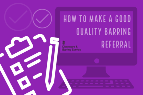 Image of a laptop that reads 'how to make a good quality barring referral'.