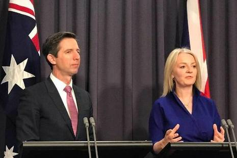 International Trade Secretary, Liz Truss and Australian Trade Minister, Simon Birmingham