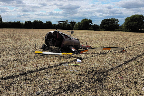 AAIB report: Robinson R22 Beta helicopter, rolled over during precautionary landing