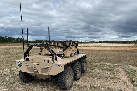The latest MIRA VIKING 6x6 Unmanned Ground Vehicle (UGV) (Copyright Horiba Mira)