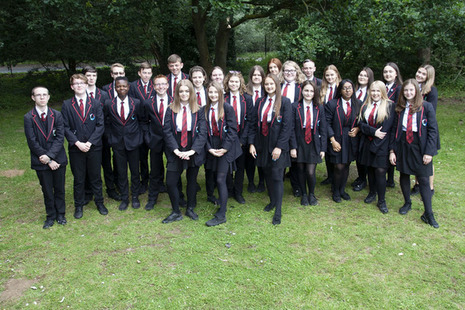 Class photo of Year 10 pupils from Mildenhall College Academy.