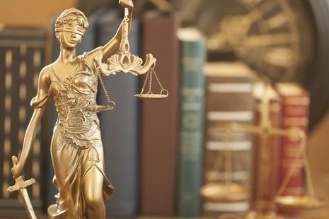 Justice bronze statue